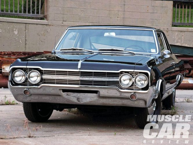 1965-Oldsmobile Coupe Hardtop F85 Muscle Classic Old Original USA -02 wallpaper