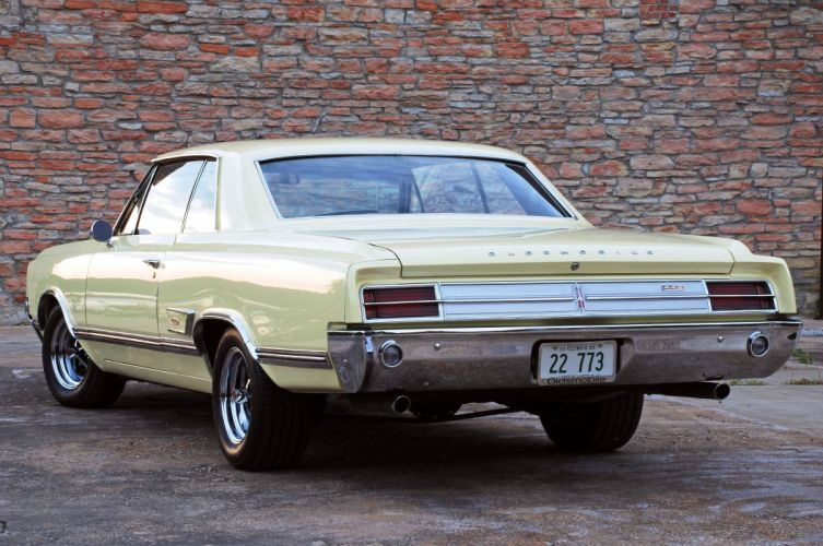 1965-Oldsmobile Coupe Hardtop 442 Muscle Classic Old Original USA -03 wallpaper