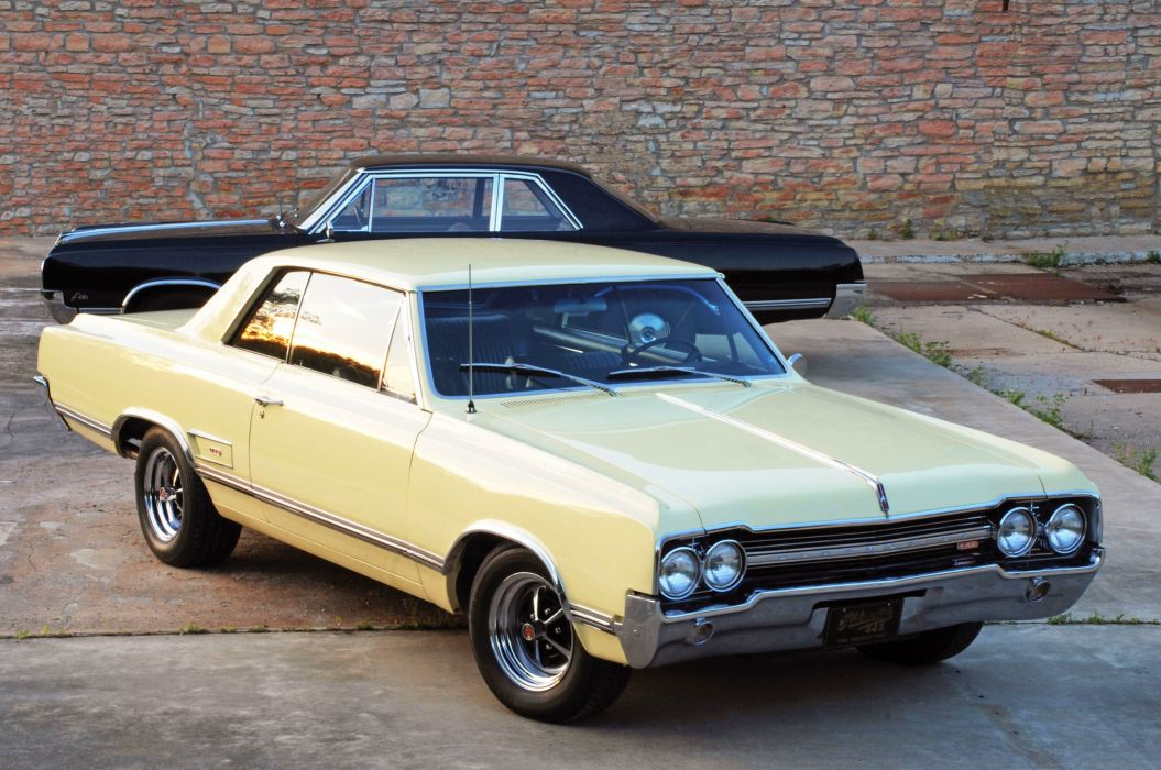 1965-Oldsmobile Coupe Hardtop 442 Muscle Classic Old Original USA -01 wallpaper
