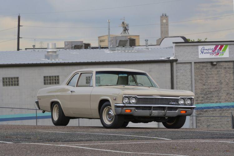 1966 Chevrolet Biscayne Sedan Two Door Muscle Classic Old Original USA -01 wallpaper