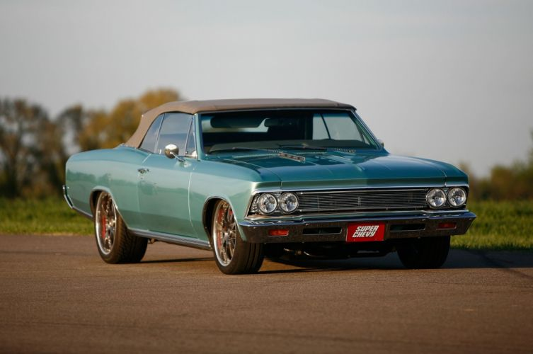 1966 Chevrolet Chevy Chevelle Convertible Pro Touring Super Street USA -02 wallpaper