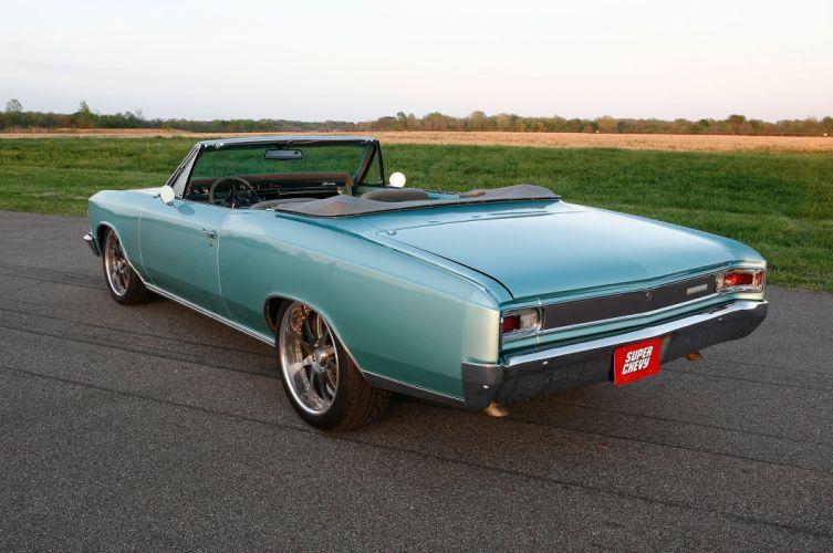 1966 Chevrolet Chevy Chevelle Convertible Pro Touring Super Street USA -04 wallpaper