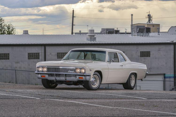 1966 Chevrolet Biscayne Sedan Two Door Muscle Classic Old Original USA -09 wallpaper