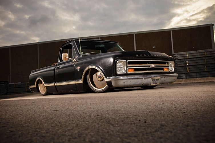 1967 Chevrolet Chevy C10 Pickup Fleetside Street Rod Hot Low Custom USA -01 wallpaper