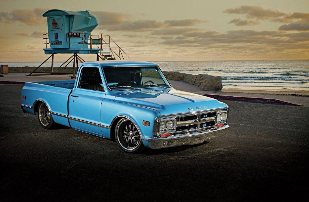 1968 Gmc Pickup Fleetside Low Lowered Lowrider Super Street USA -01 wallpaper
