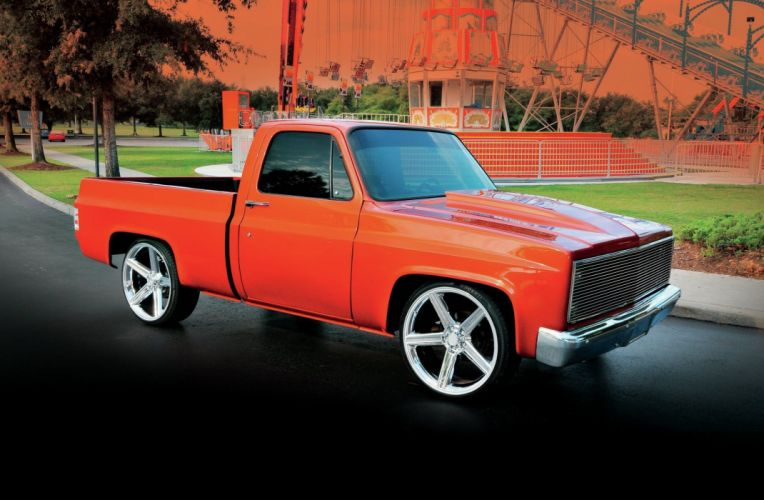 1984 Chevrolet Chevy C10 Pickup Fleetside Streetrod Street Rod Hot USA -01 wallpaper