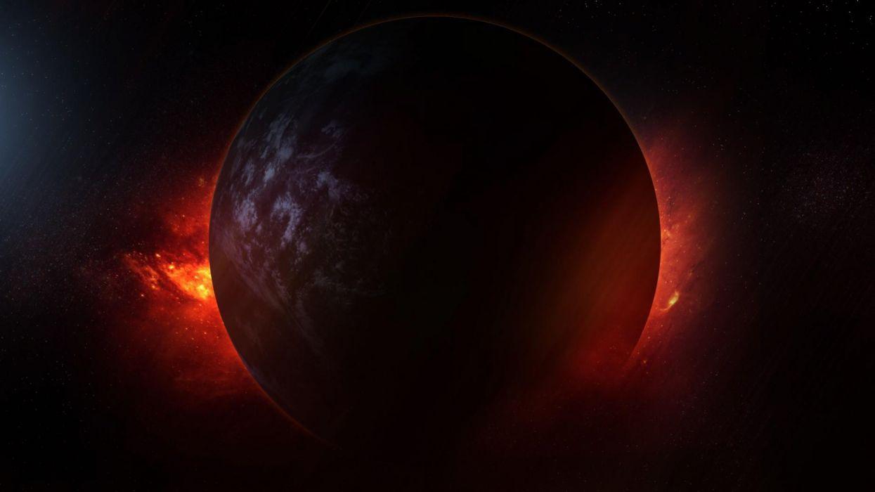 Planet Explosion Space Universe wallpaper