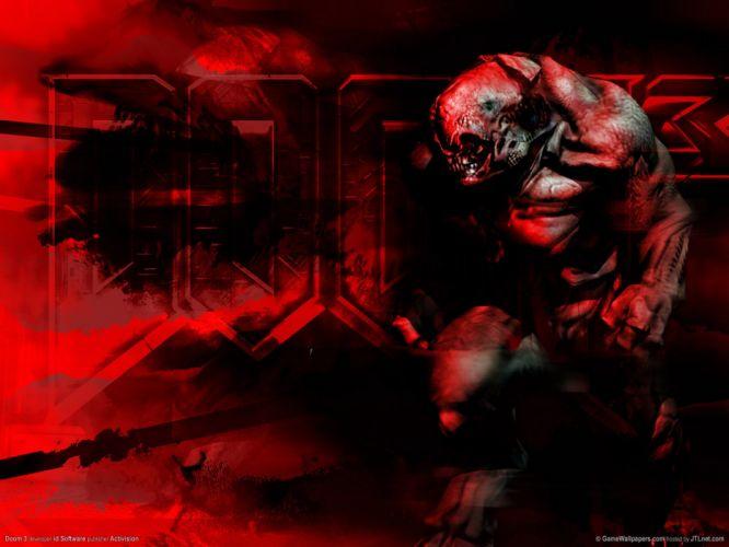 DOOM sci-fi fps shooter action fighting warrior series survival horror dark 1doom futuristic artwork evil monster creature demon wallpaper
