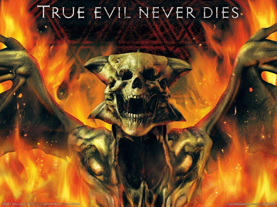DOOM sci-fi fps shooter action fighting warrior series survival horror dark 1doom futuristic artwork evil monster creature demon skull wallpaper