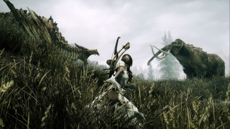 ELDER SCROLLS fantasy action rpg mmo online artwork fighting skyrim h wallpaper