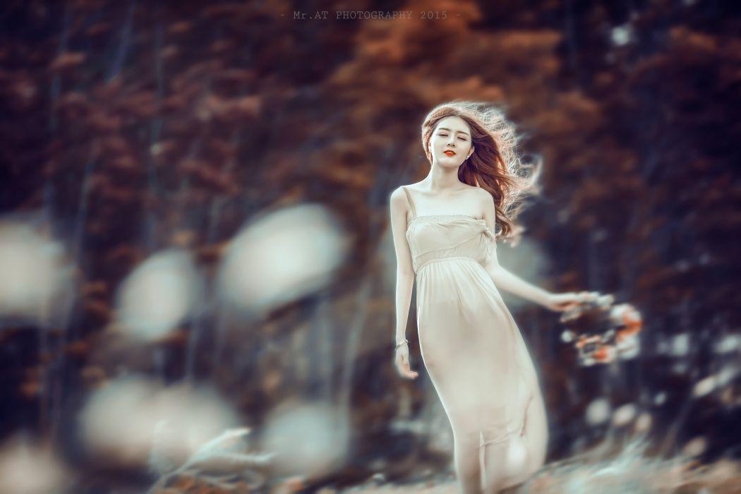 asians - brunettes - Luta - model - oriantal - women - Lilly wallpaper