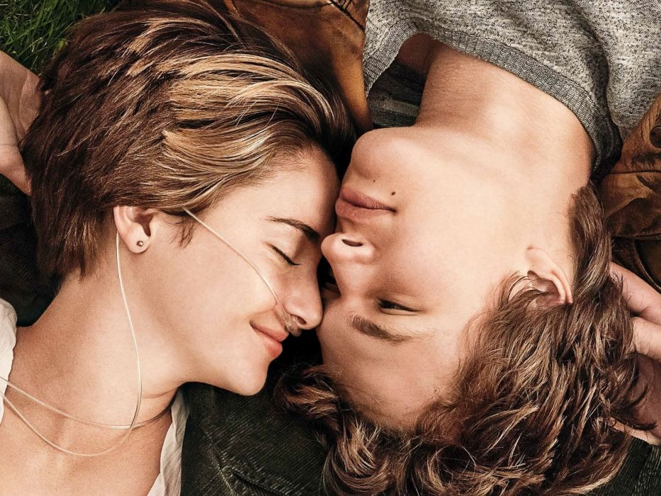 The fault in our stars Shayleen woodley Ansel elgort Hazel grace lancaster Augustus waters movie ouple wallpaper