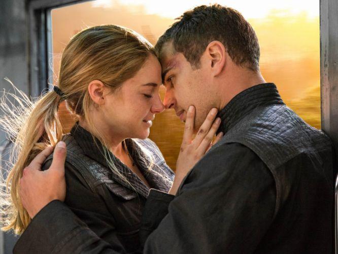 Divergent 2014 Beatrice pryor Tobias eaton Shayleen woodley Theo james movie wallpaper