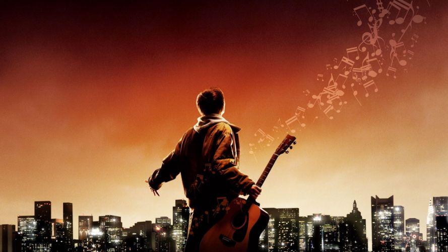 August rush Guy Music Play City Guitar movie wallpaper