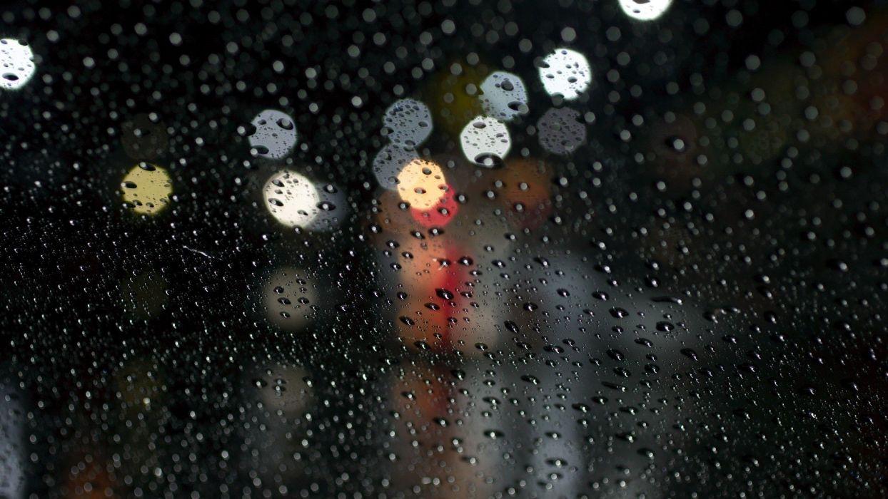 Rain Glare Surface Drops wallpaper