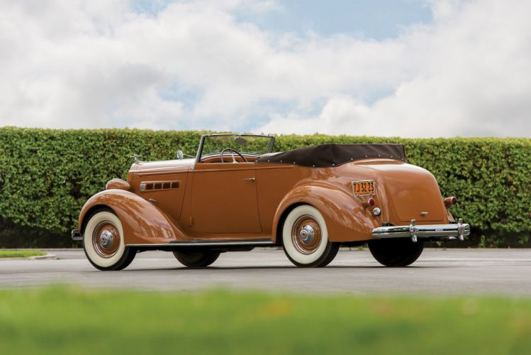 1936 Packard 120 Convertible Victoria LeBaron classic cars wallpaper