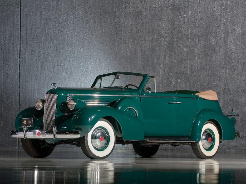 1937 LaSalle Convertible sedan classic cars wallpaper