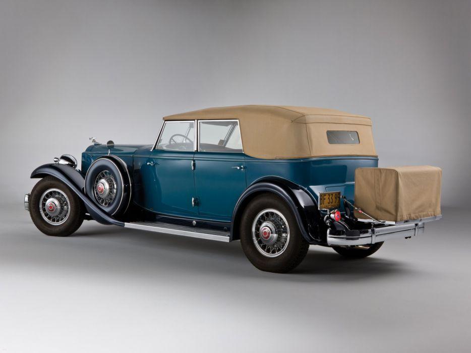 1932 Packard Individual Custom Twelve Convertible Sedan Dietrich classic cars wallpaper