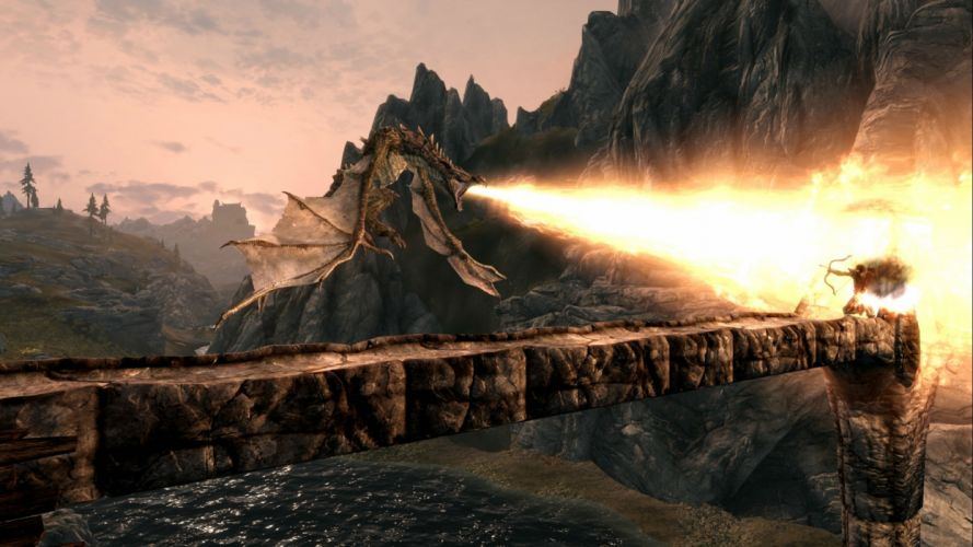 ELDER SCROLLS fantasy action rpg mmo online artwork fighting skyrim wallpaper