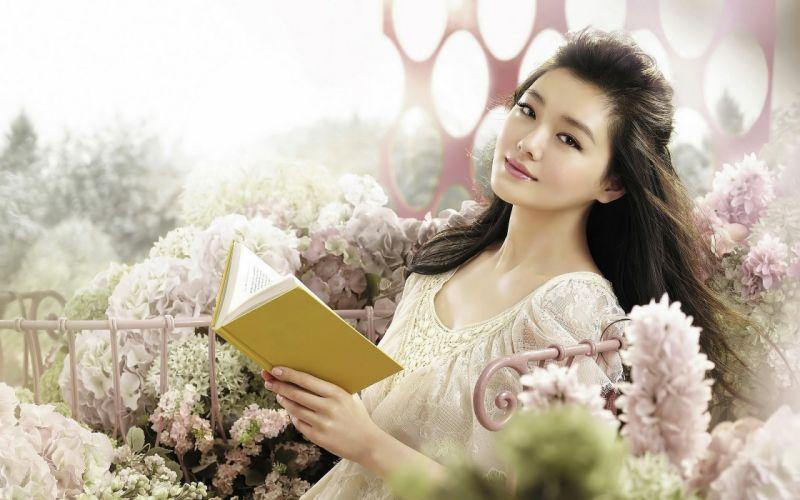 Asian Girl Face Book Smile wallpaper
