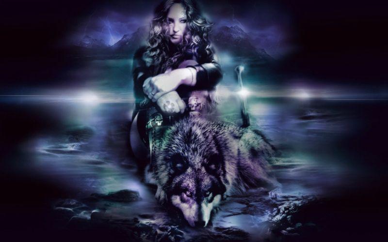 fantasy artwork art wolf wolves warrior g wallpaper