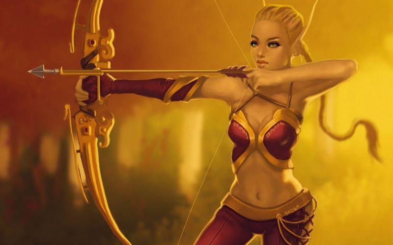 fantasy artwork art archer warrior elf elves s wallpaper