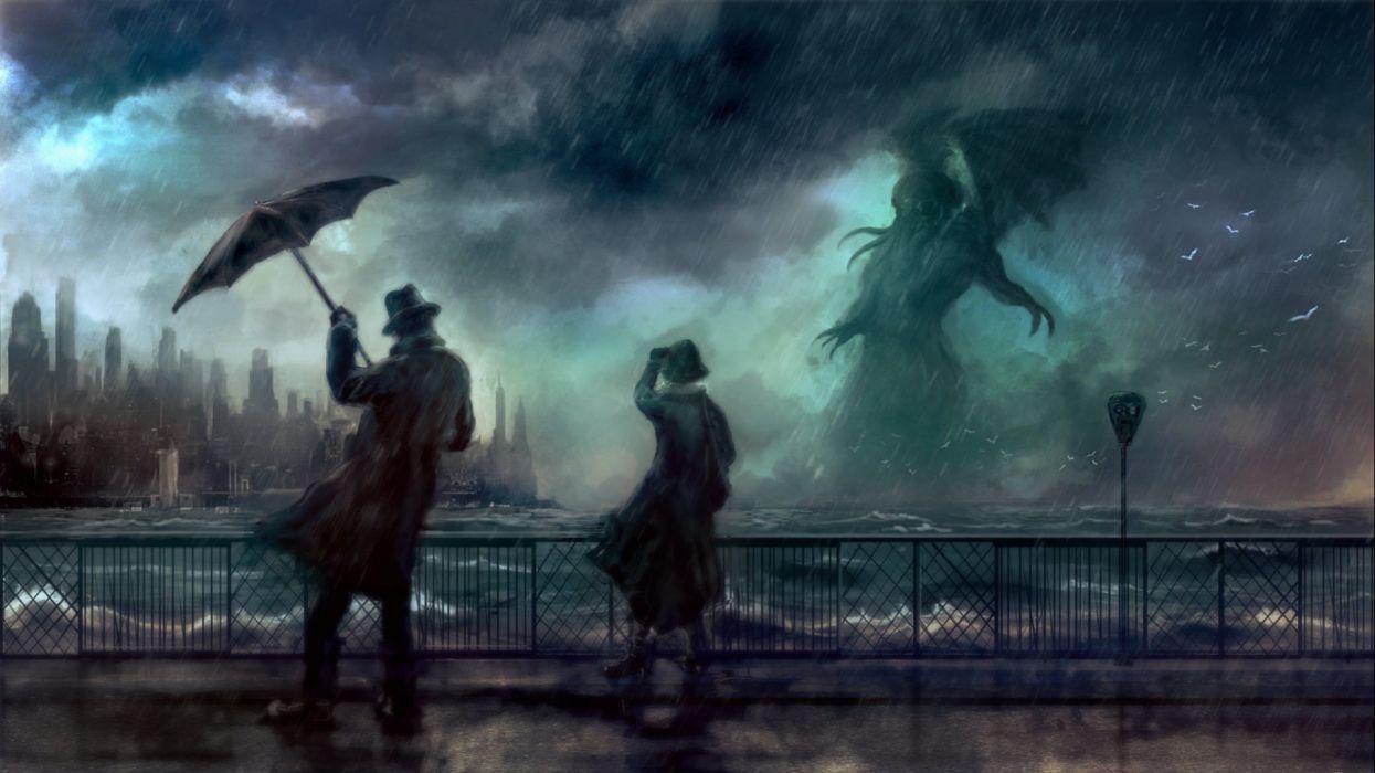 fantasy artwork art Cthulhu monster creature g wallpaper