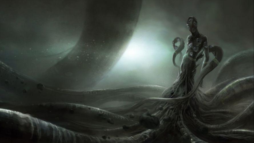 fantasy artwork art Cthulhu monster creature d wallpaper
