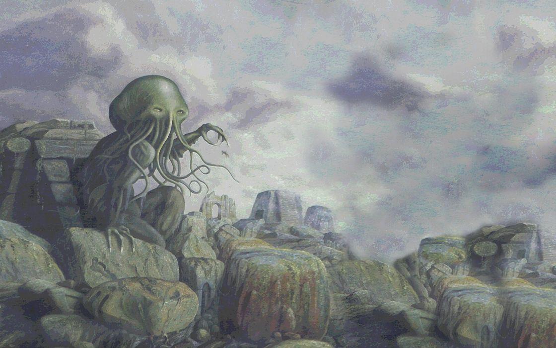 fantasy artwork art Cthulhu monster creature s wallpaper