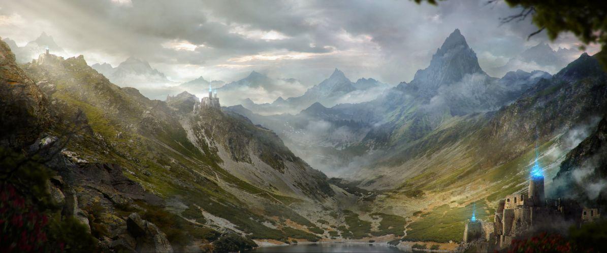 fantasy artwork art landscape nature castle city cities g wallpaper