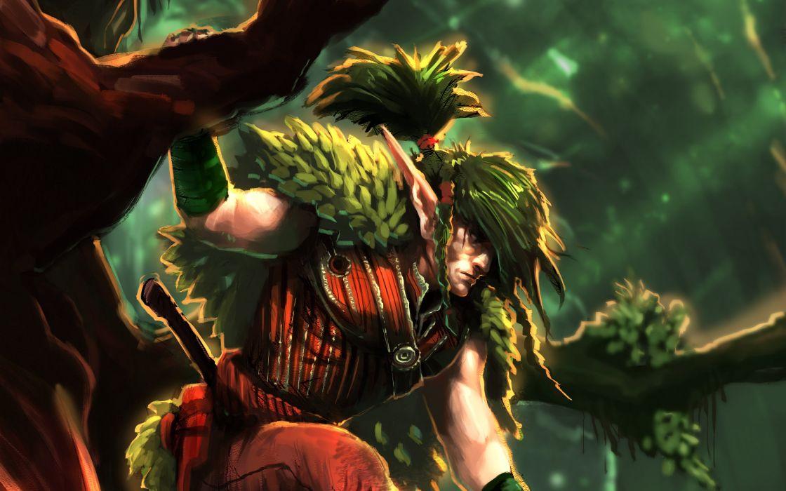 fantasy artwork art elf elves warrior f wallpaper