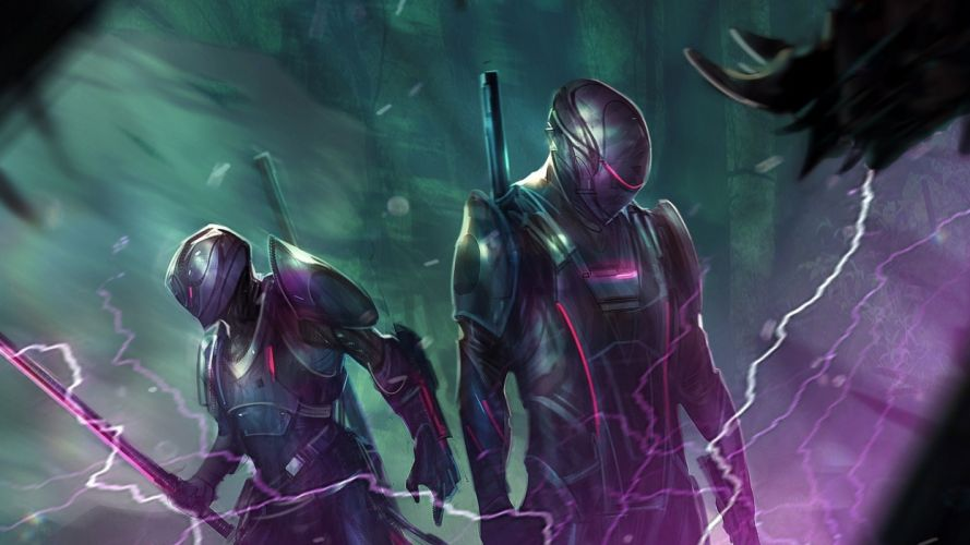 sci-fi artwork art warrior robot cyborg d wallpaper