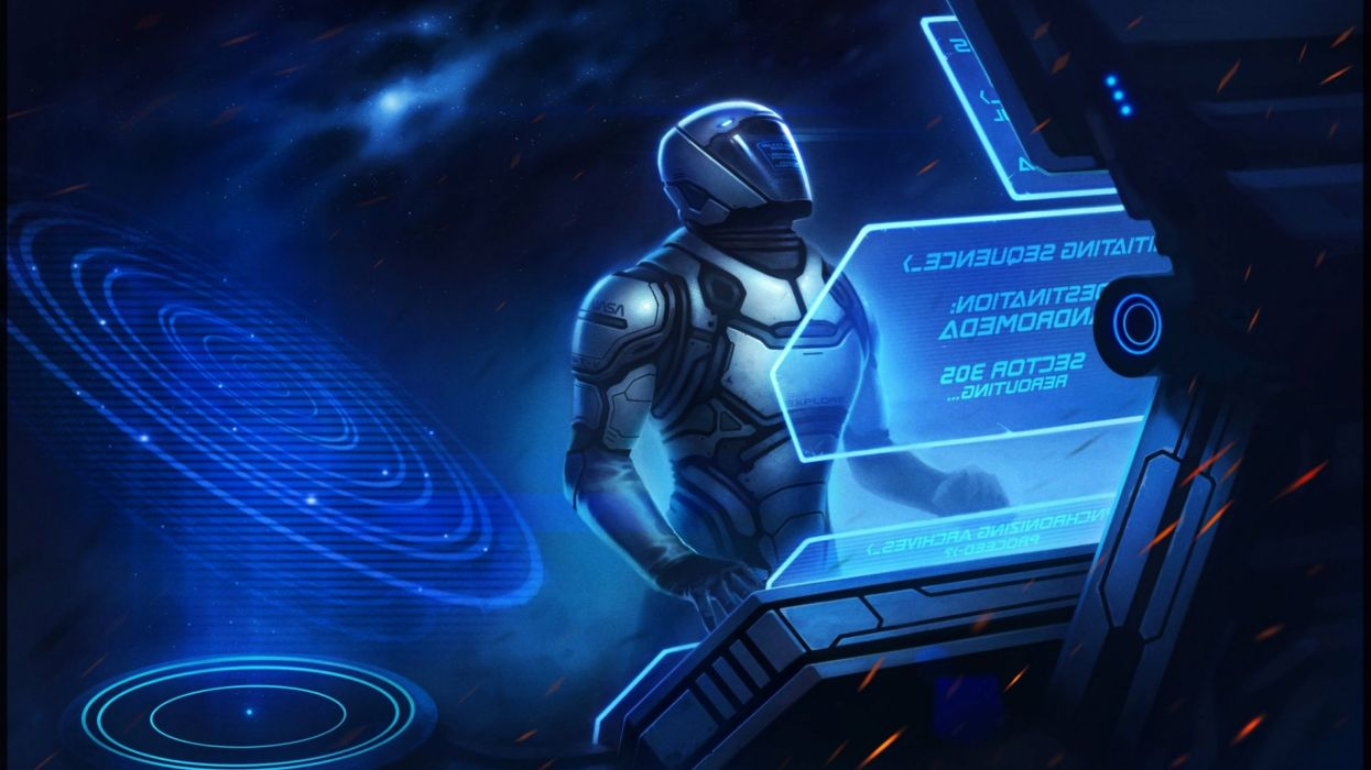 sci-fi artwork art warrior robot cyborg f wallpaper