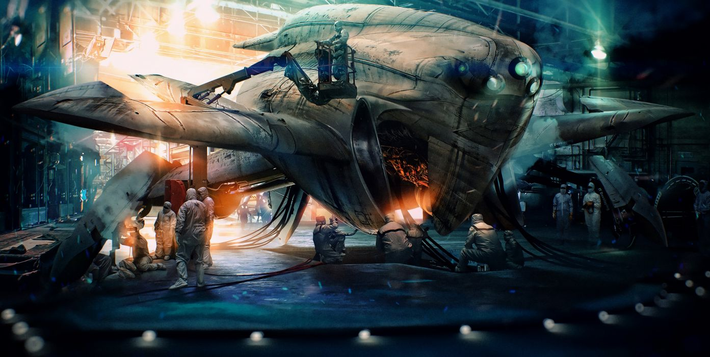 sci-fi artwork art space spaceship f wallpaper