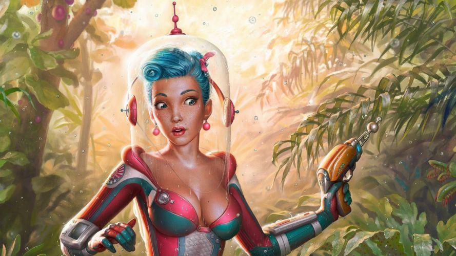 sci-fi artwork art women girl girls d wallpaper