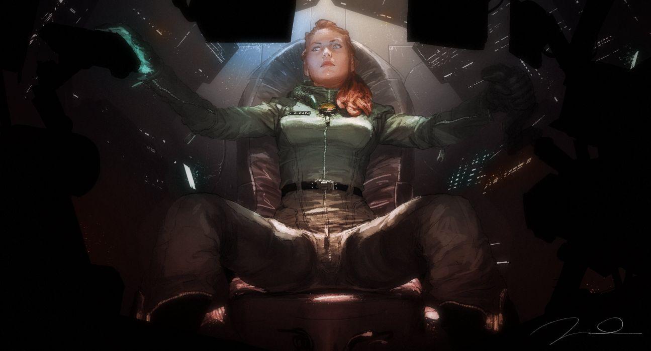 sci-fi artwork art women girl girls t wallpaper