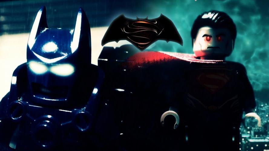 BATMAN-v-SUPERMAN dc-comics batman superman superhero adventure action fighting dawn justice poster lego wallpaper