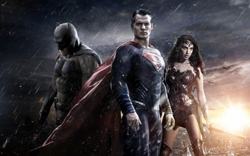 BATMAN-v-SUPERMAN dc-comics batman superman superhero adventure action fighting dawn justice poster wonder woman wallpaper