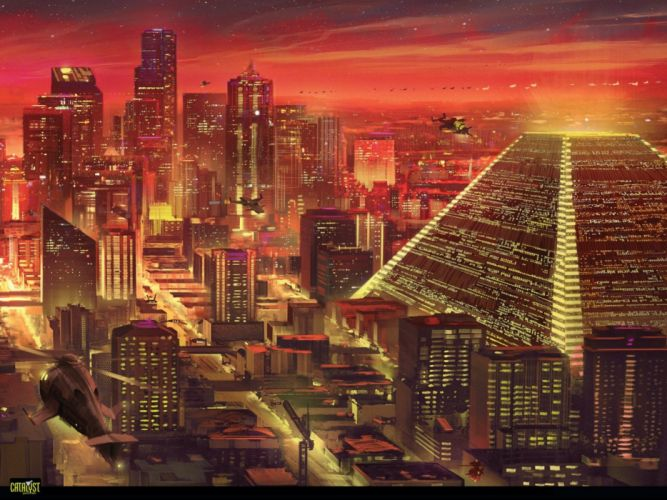 SHADOWRUN cyberpunk sci-fi fantasy mmo rpg online action fighting warrior 1shadowr futuristic city cities wallpaper