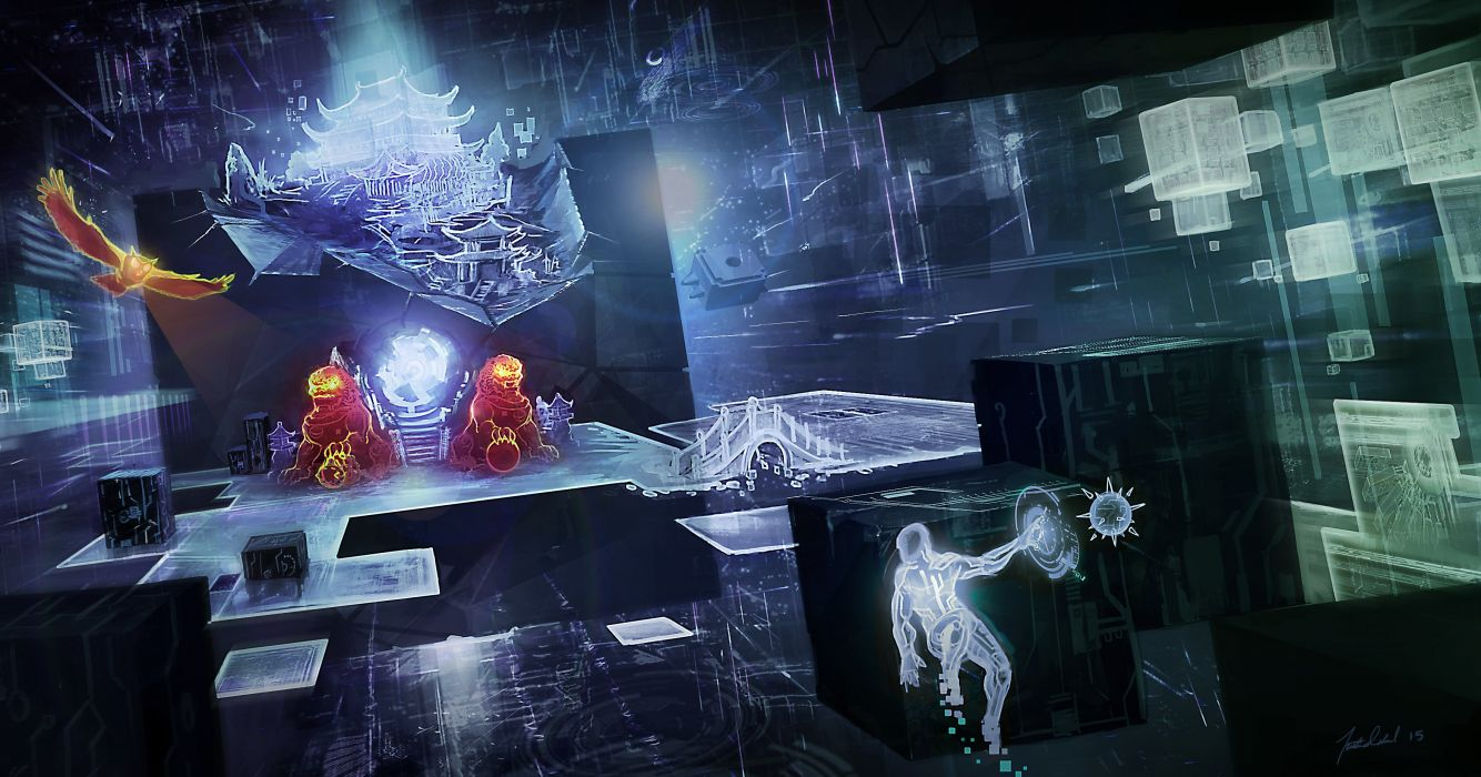 SHADOWRUN cyberpunk sci-fi fantasy mmo rpg online action fighting warrior 1shadowr futuristic wallpaper