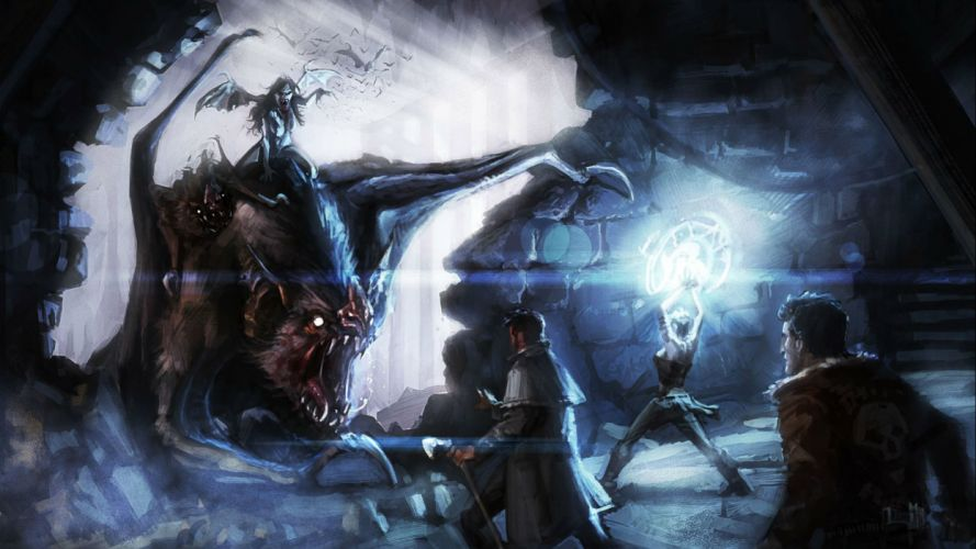 SHADOW REALMS fantasy mmo rpg sci-fi magic 1srealms action fighting dark artwork monster creature wallpaper