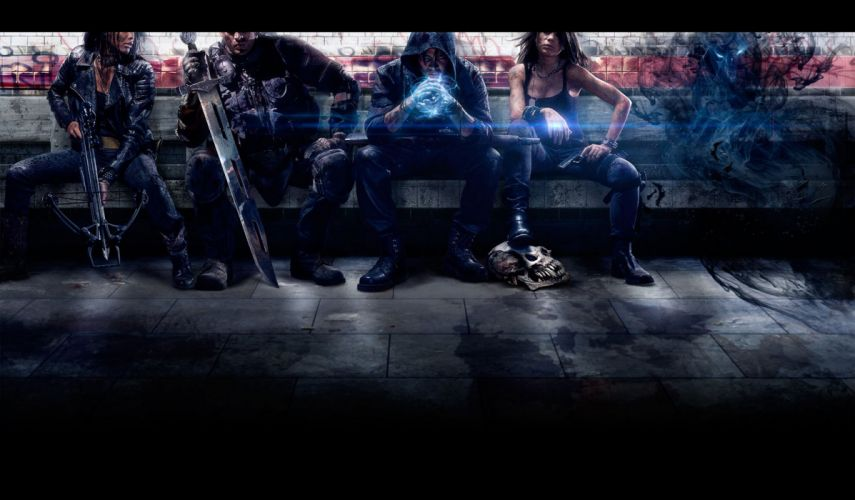 SHADOW REALMS fantasy mmo rpg sci-fi magic 1srealms action fighting dark artwork wallpaper