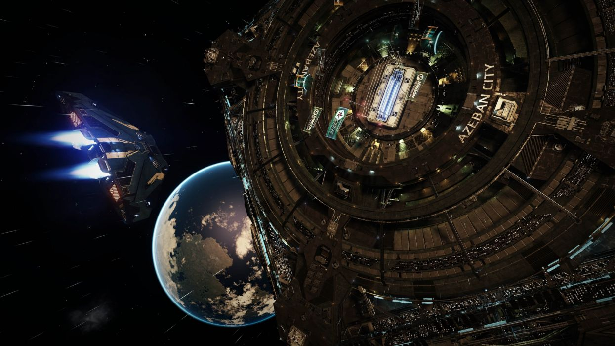 ELITE DANGEROUS sci-fi spaceship mmo rpg online futuristic space artwork adventure simulator action fighting g wallpaper