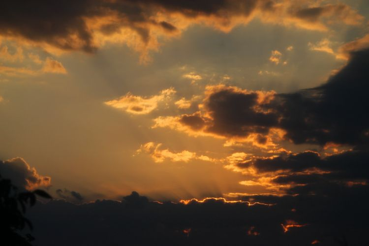 sunset sky clouds sunlight D wallpaper