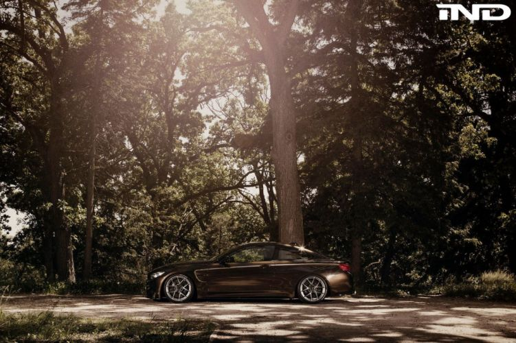 IND Brown BMW-M4 coupe cars modified wallpaper