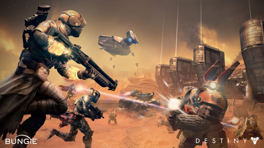 DESTINY sci-fi shooter fps action fighting futuristic warrior rpg mmo online artwork wallpaper