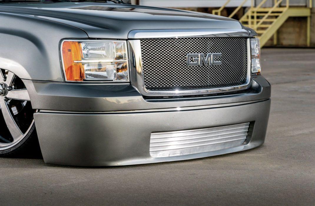 2008 GMC Sierra Pickup Lowered Low Coll Custom USA -06 wallpaper