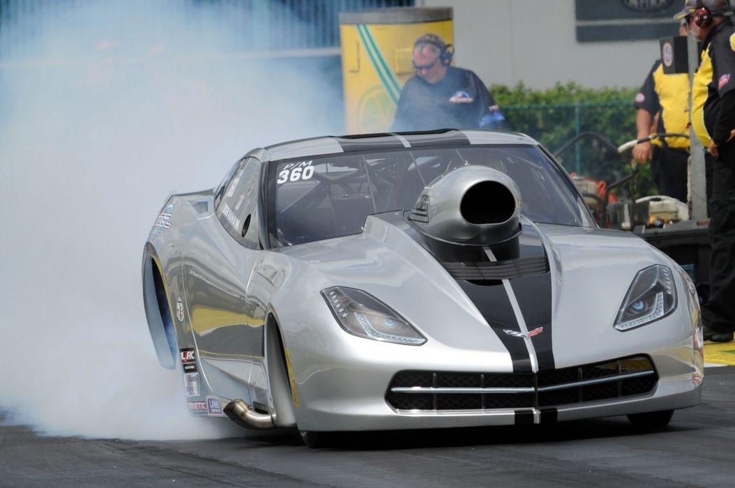 2015 Chevrolet Corvette C7 Pro Mod Burnout Drag Race USA -02 wallpaper