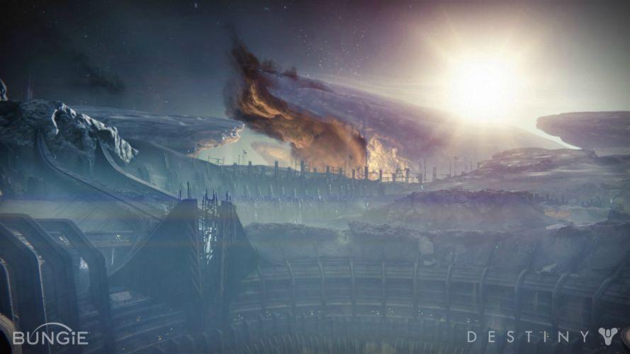 DESTINY sci-fi shooter fps action fighting futuristic warrior rpg mmo online artwork wallpaper