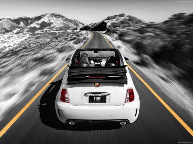 2013 500c Abarth Fiat cars wallpaper
